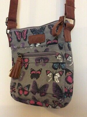 LEE COOPER SMALL SHOULDER BAG Grey, Butterfly Pattern  • 6.99£