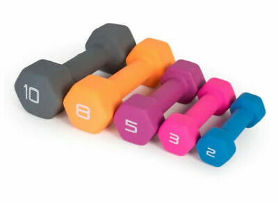 $ CDN23.77 • Buy 2#, 3#, 5#, 8#, Or 10# Cap Hex Neoprene Dumbbells / Weights! We Ship To Pr