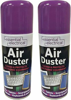 2 X Compressed Air Duster Spray Blower Cleaner Laptop Keyboard Mouse Electronics • 7.49£