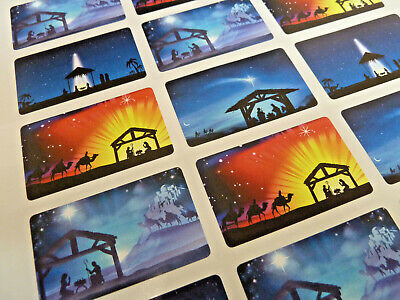 Christian Religious Christmas Nativity Stickers Labels For Cards & Craft X50307 • 2.50£