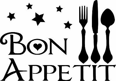 £3.99 • Buy Bon Appetit Kitchen Wall Art Sticker Home Decor, Quality DIY Decal Quotes
