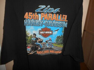 $ CDN36.27 • Buy Vintage Harley Davidson Bravado Zip's 45th 110th Anniversary Black T-Shirt 3XL