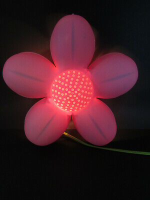 IKEA SMILA BLOMMA Pink Flower Wall Lamp Night Light • 7.15£