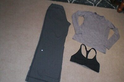 $ CDN70 • Buy Lot Of Lululemon Still Pants, Run Swiftly Sweater And Bra Sz 10