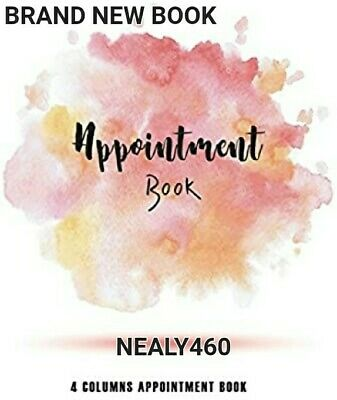 Salon Appointment Book 4 Column Beautician Diary List Scheduling Beauty Nails • 6.49£
