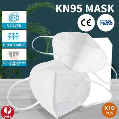 AU17.75 • Buy KN95 Face Mask Reusable Mouth Masks Anti Dust 5 Layer Respirator Protective 10x