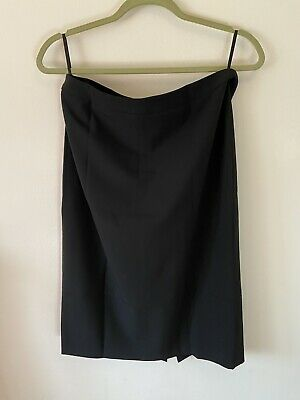 Wolford Super Smart Straight Skirt Black Wool Size 38 Unworn • 10£