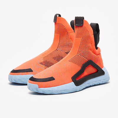 AU129.26 • Buy Adidas N3XT L3V3L Primeknit Basketball Shoes Athletic 14-16 Coral Orange-Black
