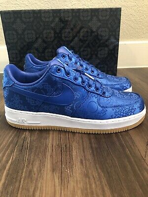 $425 • Buy Nike Air Force 1 Low CLOT Blue Silk, Bearbrick Size 10 Dunk