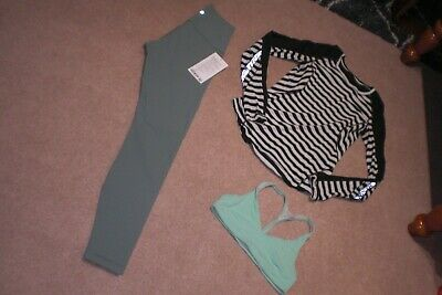 $ CDN109.25 • Buy Lot Of BNWT Lululemon Wunder Under Tights, Sweater And Bra Sz 6