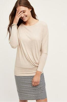 $ CDN52.66 • Buy Anthropologie Bordeaux Size Large Pasar Pullover Beige Knit Long Sleeves New