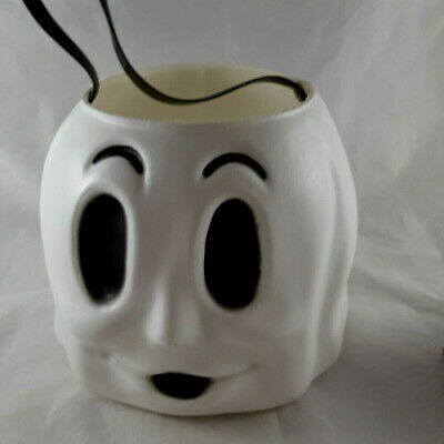 $ CDN9.72 • Buy Vintage Halloween Empire Blow Mold White Ghost Bucket Pail With Strap Grommeted