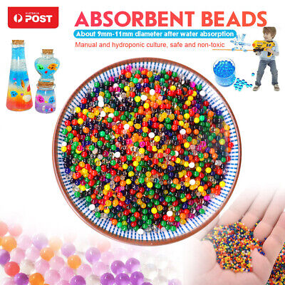 AU7.59 • Buy 50000 Jelly Gel Crystal Soil Orbeez Water Beads Balls For Plant Vase Wedding AU