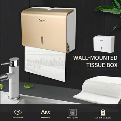 AU19.20 • Buy Toilet Paper Towel Dispenser Tissue Box Wall Mounted Holder Bathroom  PL