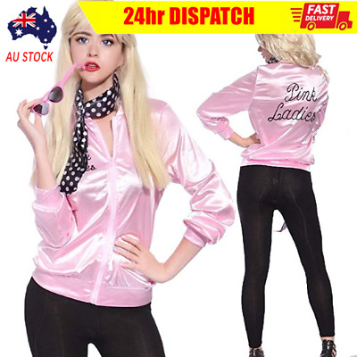 AU20.99 • Buy Pink Ladies Jacket Costume 50's 1950's Fancy Dress Halloween Party Costumes AUS