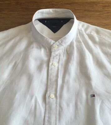 Mens Linen Mix Grandad Shirt By Tommy Hilfiger        18.5.   Collar.  Xxl • 4.99£