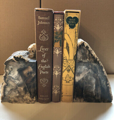 Beautiful Large Polished Agate Book Ends • 49.99£