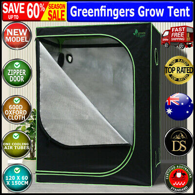AU118.20 • Buy Greenfingers Grow Tent 120 X 60 X 150cm Hydroponics Indoor Kit Grow System