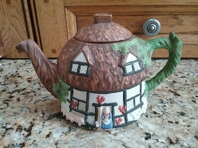 Christopher Wren Cottage Novelty Teapot Staffordshire Pottery Tableware China UK • 5£