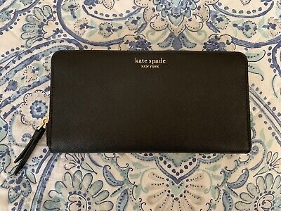 $ CDN65.84 • Buy Kate Spade New York Margaux Slim Continental Black Leather Wallet