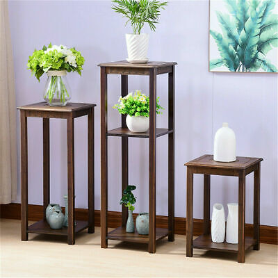 AU49.95 • Buy Bamboo Flower Plant Stand Art Carving Home Decor Beside Coffee Table End Table