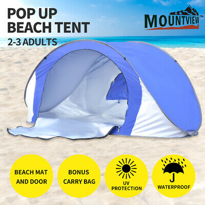 AU36.99 • Buy Mountview Pop Up Tent Beach Camping Tents 2-3 Person Hiking Portable Shelter