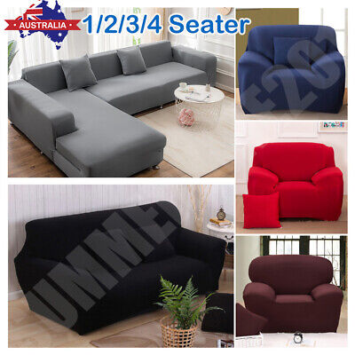 AU28.55 • Buy 1-4 Seater Stretch Sofa Cover Couch Lounge Recliner Armchair Slipcover Protector