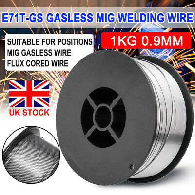 Mig Wire Gasless Mild Welding Welder Reel Spool Roll Flux Cored No Gas 0.9mm 1KG • 8.49£