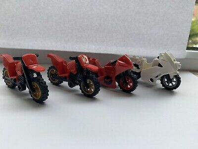Lego Dirtbike  / Police Bike 4pcs Used In Excellent Condition • 7.50£