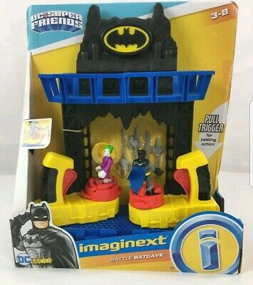 Imaginext FKW12 Battle Bat Cave With Batman And Joker Figures 4...  • 31.99£