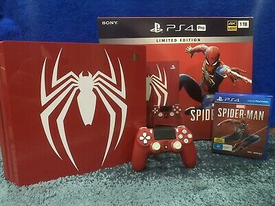 AU630 • Buy PS4 Pro 1TB Spider-Man 'Amazing Red' Limited Edition   Excellent Condtion