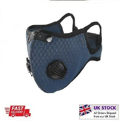 £3.49 • Buy **Face Mask*Reusable*Washable*Anti Pollution*PM2.5 Two Air Vent With Filter*UK**