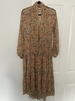 STRADIVARIUS Floral Ditsy High Low Maxi Dress- Size S • 15£