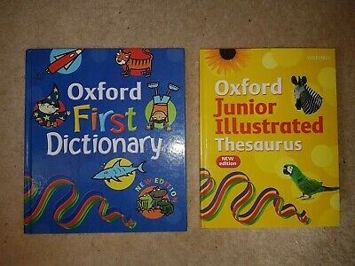 Oxford Press New Edition : First Dictionary 5+ & Junior Illustrated Thesaurus 7+ • 6.90£