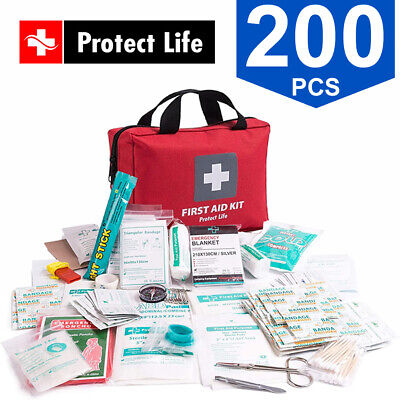 £13.50 • Buy Protect Life 200 Pcs First Aid Medical Emergency + Survival Car Home Travel Kit