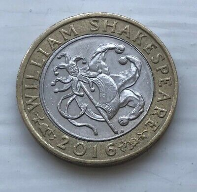 2016 £2 William Shakespeare - Jester 2016 Two Pound Coin Comedies  • 3.50£