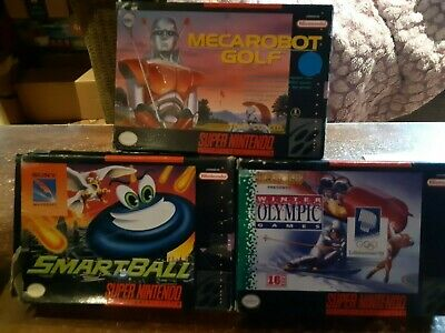 $ CDN29.99 • Buy Lot Of 3 Boxed - Super Nintendo - Snes - Smartball, Mecrabot Golf & Olympic Game
