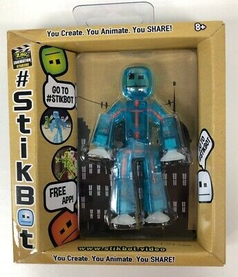 Stikbot Translucent Light Blue 3  Figure Creative Toy Stocking Filler 4Yrs+ #NG • 5.99£