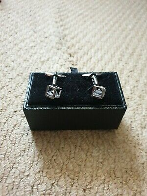 Hawkes And Curtis Diamanté Womens Cufflinks  • 20£