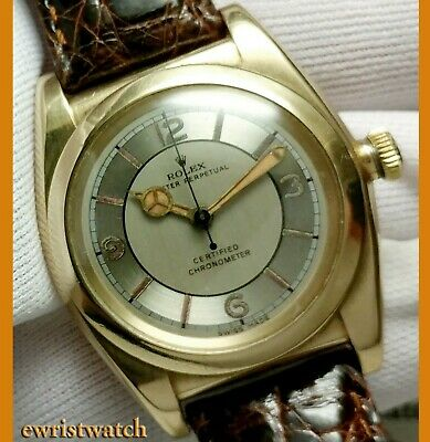 $ CDN7750.54 • Buy Vintage 40's Rolex Oyster Perpetual Chronometer Solid 14K Gold Bubbleback 3131