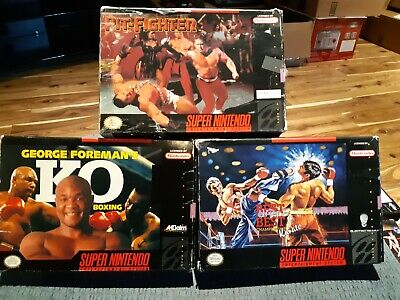 $ CDN29.99 • Buy Lot Of 3 Boxed - Super Nintendo - Pit Fighter, Best Karate & George Foreman Boxi