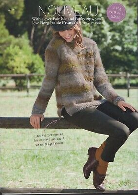 Bergere De France Knitting Pattern - Nouveau Clever Fair Isle & Chunky Zips Top • 1£