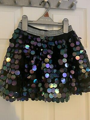 Girls Sequin Skirt Age 5-6 Years. Black Tutu Style With Net Under Skirt. George • 0.99£