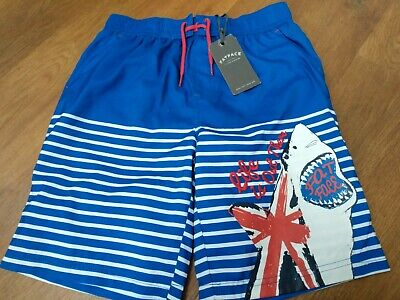 Fatface Boy Swimmming Shorts Age 10-11 BNWT With Union Jack And Shark Motif • 4.99£