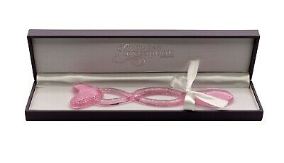 £35 • Buy Welsh Baby Pink Glass Love Spoon Gift For Weddings, Anniversaries Or Engagement