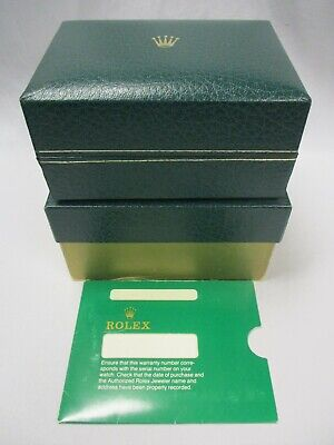 $ CDN92.26 • Buy Vintage ROLEX Watch Box & Carton Set With Aftermarket Pillow + Paperwork Sleeve
