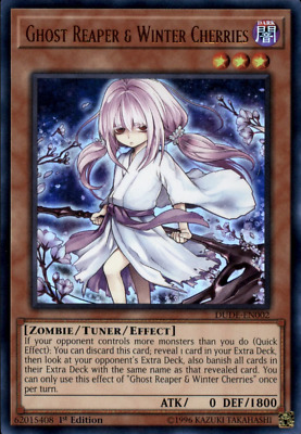 AU2.95 • Buy Ghost Reaper & Winter Cherries - DUDE-EN002 - Yu-Gi-Oh Card ***ULTRA RARE***