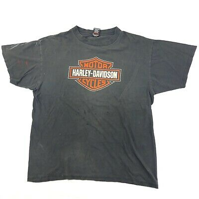 $ CDN43.07 • Buy Vintage 90s Harley Davidson Distressed T Shirt XL Double Sided Biker Flamed