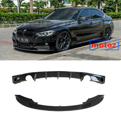 AU287.08 • Buy Front Splitter Lip + Rear Bumper Diffuser Fit For BMW F30 M-Sport 2012-2017