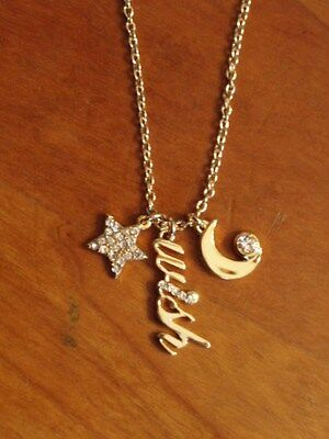 $ CDN53.61 • Buy NWT & BOX!  KATE SPADE Midnight WISH STAR MOON Charm Necklace 12k Gold Filled